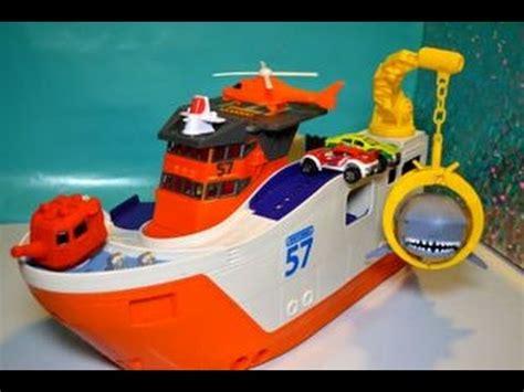 big boat toy matchbox car go shark ship marine rescue shark ship toy