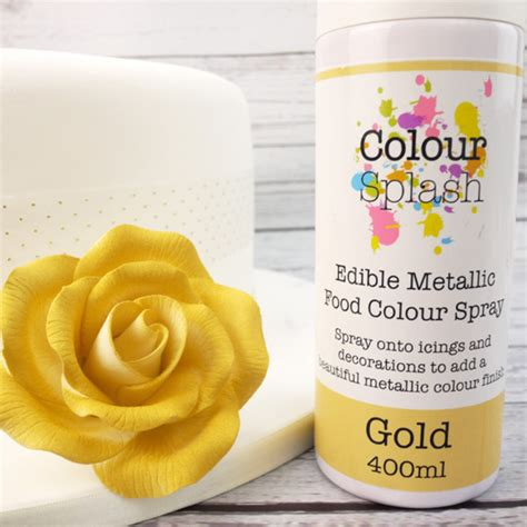 where can i buy food coloring colour splash 400ml can of gold edible metallic food