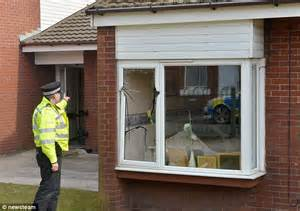 pensioner 85 and granddaughter showered in glass after explosion sent gas canister hurtling