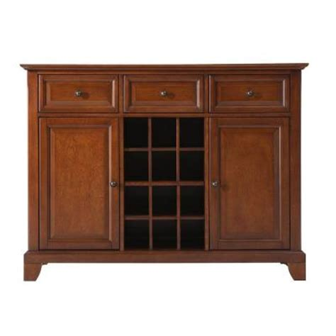 crosley newport cherry buffet server and sideboard cabinet