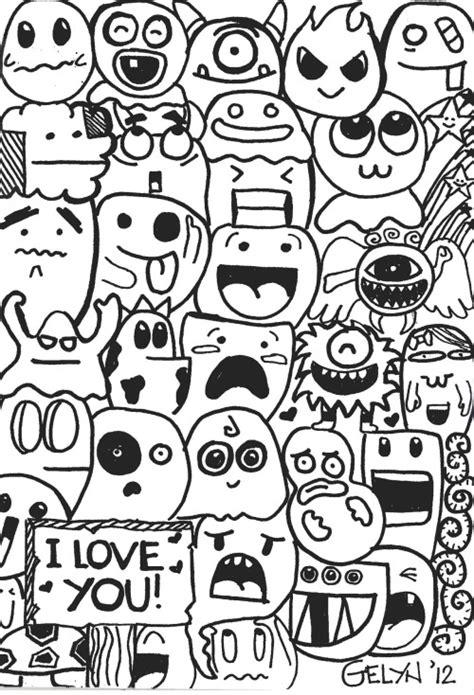 easy doodle coloring pages doodle art art archive