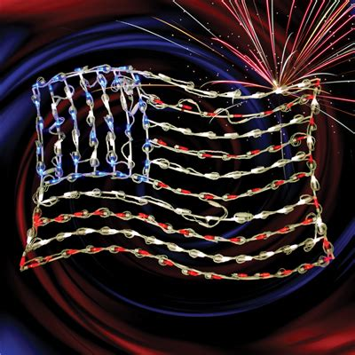 36 quot lighted led waving american flag small holidynamics