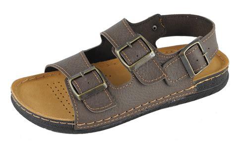 mens wide sandals mens dr keller wide fit leather lined buckle