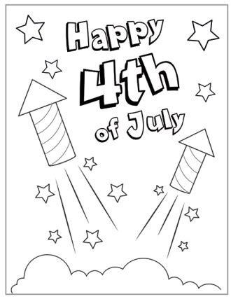 4th of july coloring pages for toddlers 4th of july craft clipart sketch drawing printable