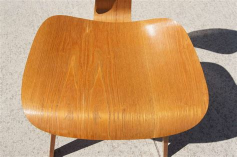 herman miller dining chairs vintage vintage oak dcw dining chair by eames for herman miller
