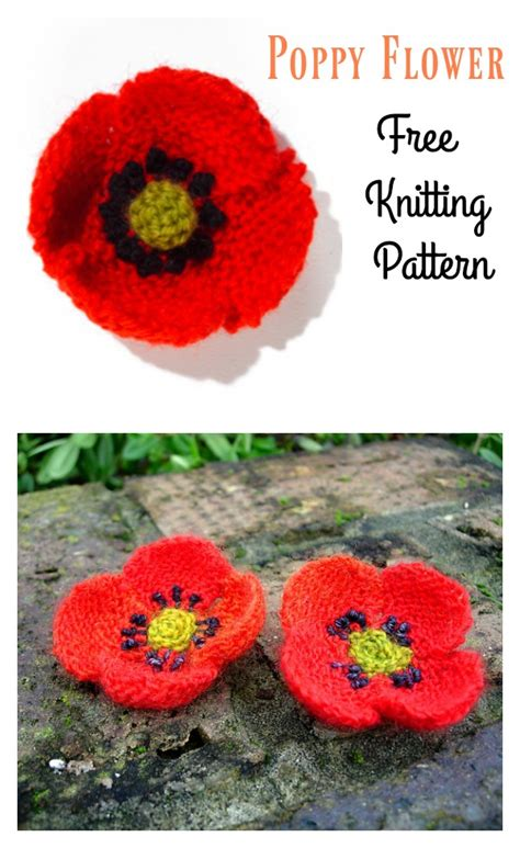 Free Poppy Knitting Pattern
