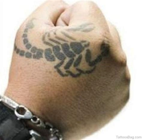 30 fancy scorpion tattoos for hand