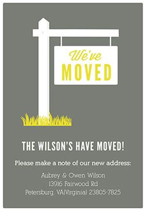 Quot Our New Address Quot Printable Moving Announcement Moving Announcements Newhome Moving Free Printable Moving Announcement Templates
