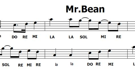 testo sigla note musica e spartiti gratis per flauto dolce mr bean sigla