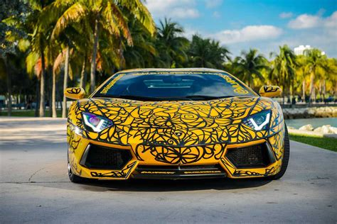 Art Cars of Art Basel in Miami shows Huracan and Aventador