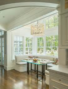 bench seating kitchen dining room traditional with