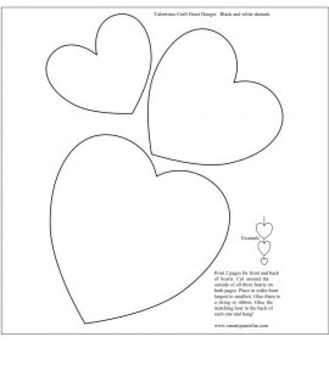 cards of hearts template day valentines hanger smarty free