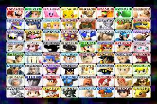 Super smash bros 4 complete roster for fun by pichuthepokemon on