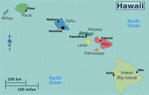 map of hawaii hawaii map free large images