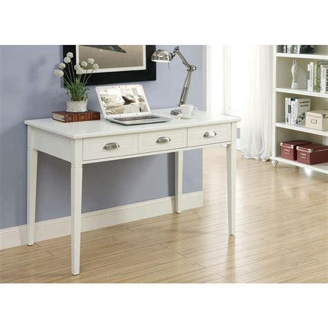 Home Decorators Writing Desk Home Decorators Collection Amelia White Desk With Storage Sk18486 The Home Depot