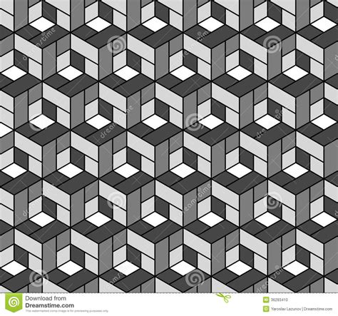 geometric pattern l seamless geometric pattern with cubes stock vector