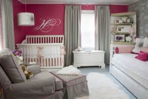 pink and grey girls bedroom chic raspberry and gray nursery project nursery