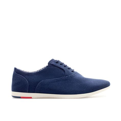 navy blue oxford shoes zara soft fabric oxford shoe in blue for navy blue