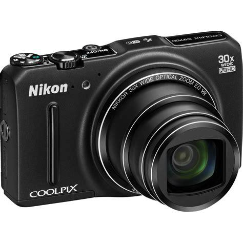 nikon coolpix a digital nikon coolpix s9700 digital black 26469 b h photo