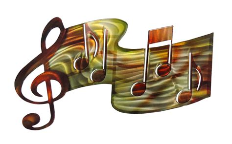 Decorative Wall Hooks For Hanging 3d Music Staff Musical Metal Wall Art