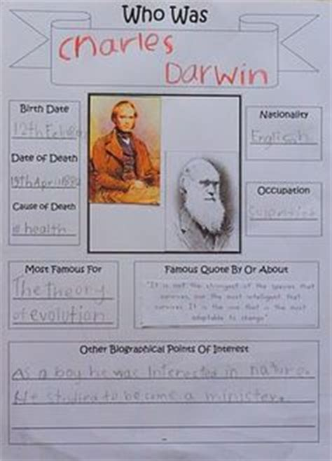 biography charles darwin ks2 link to free bio note booking page