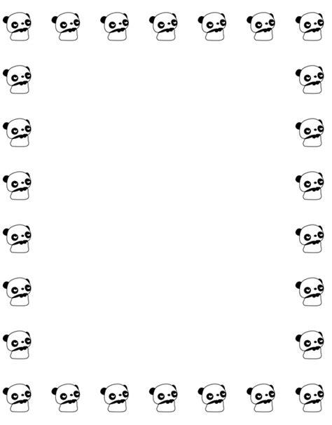 printable panda stationery free animal stationary free printable stationary for