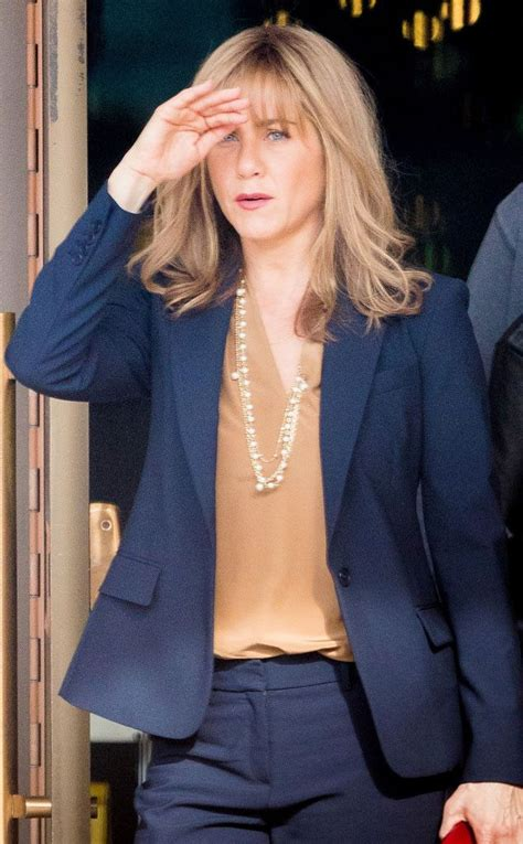 Jennifer Aniston Steps Out With New Blond Bangs While | 566 best images about girlie things on pinterest