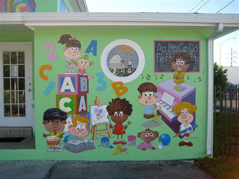 Wall Mural Artists miami daycare painting by murals by pontet