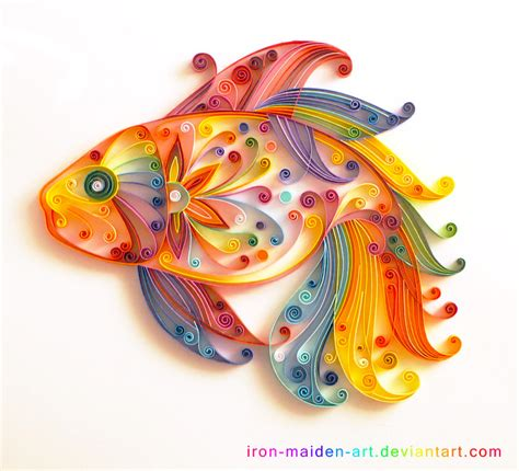 Paper Craft Quilling - quilling fish by usokei