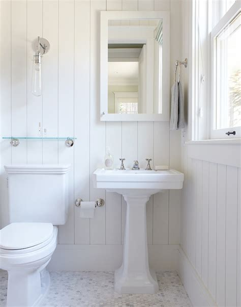 Beadboard Bathroom Ideas Rasmussen Construction Bathrooms Cottage Bathroom White Cottage Bathroom Beadboard
