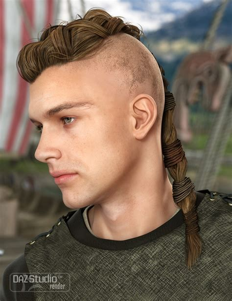 short men viking hair viking male hair for genesis and genesis 2 male s 3d