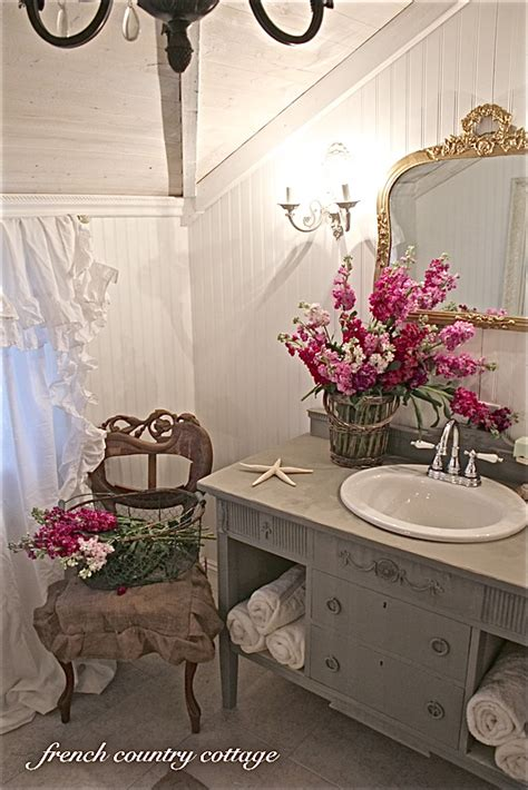 Petite Cottage Bathroom Makeover French Country Cottage Country Cottage Bathroom