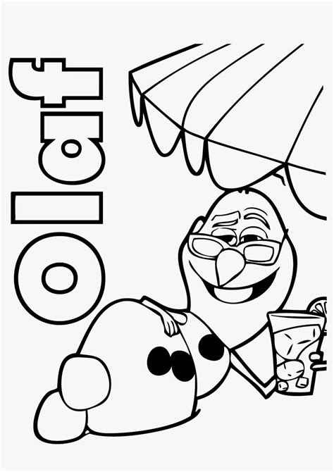 A Coloring Page Of A by Frozens Olaf Coloring Pages Best Coloring Pages For