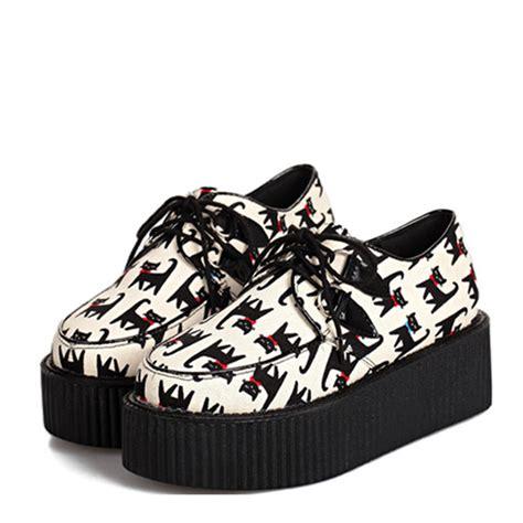 cat printed platform shoes 99914