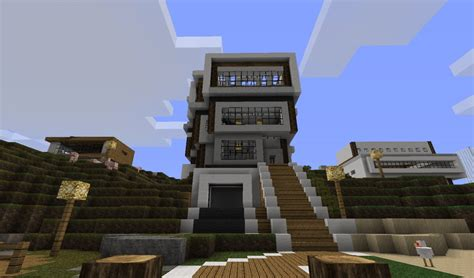 modern house designs for minecraft minecraft modern house designs blueprints images