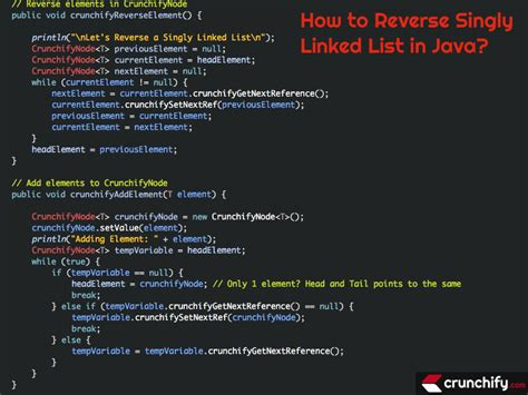 tutorial java linked list how to reverse singly linked list in java also addition