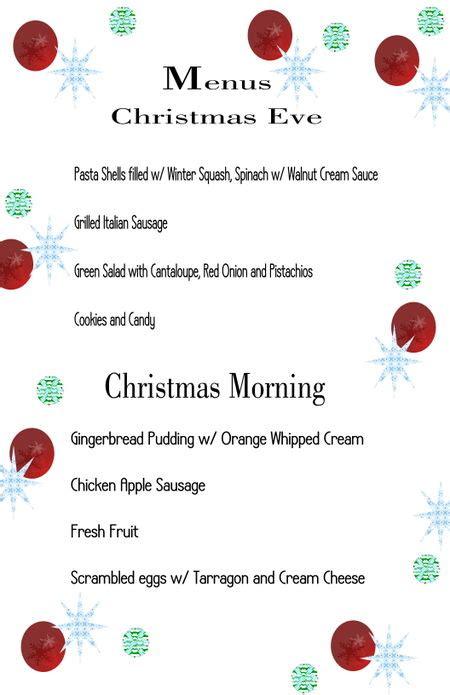 christmas menu ideas christmas menu s storybook woods