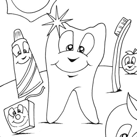 Free Printable Dental Coloring Pages dentist coloring