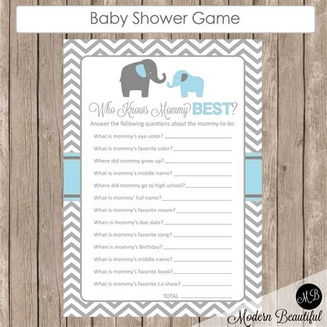 Knows Best Baby Shower baby shower who knows best elephant theme who