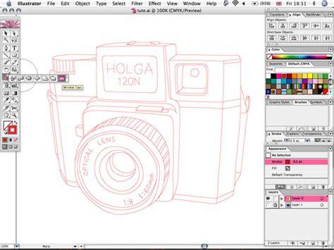 line art tutorial illustrator cs6 create a sketchy hand drawn camera illustration in illustrator