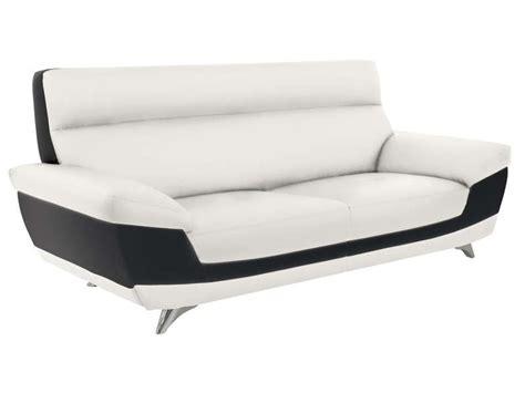 canapé noir et blanc conforama canap 233 fixe 3 places diagonal coloris blanc noir