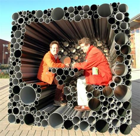 Pvc Pavillon by Pvc Pipes Form An Interactive Pavilion For Children To