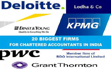 Mba In Accounting In India by 20 Firms For Chartered Accountants In India