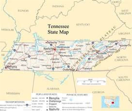 A Map Of Tennessee by Tennessee State Map A Large Detailed Map Of Tennessee