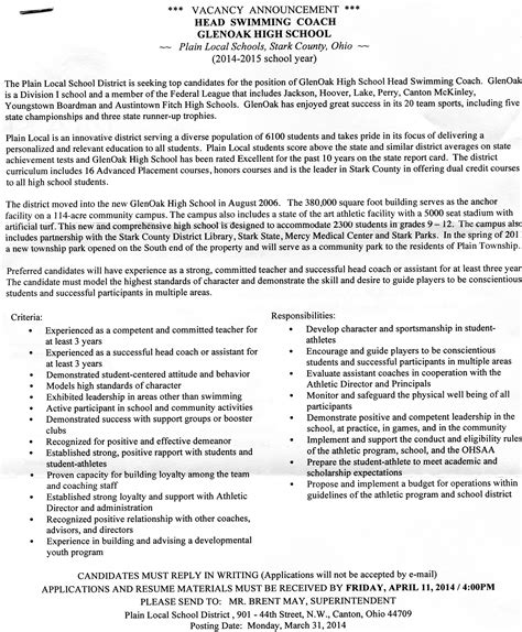 sports coach resume sle sle resume high school 28 images sle resume of a in