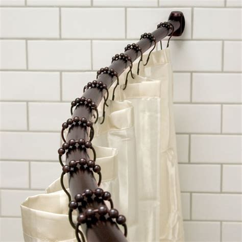 shower curtain for curved rod some tips for curved shower curtain rods installation
