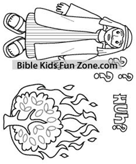 moses   burning bush bible coloring pages bible