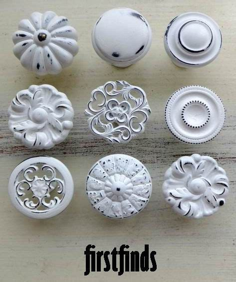 white cabinet knobs and pulls 9 misfit lg shabby chic white distressed knobs kitchen