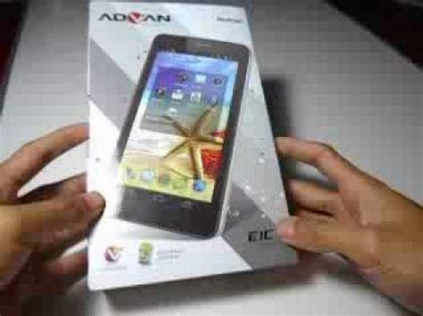 unboxing tablet advan e1c plus