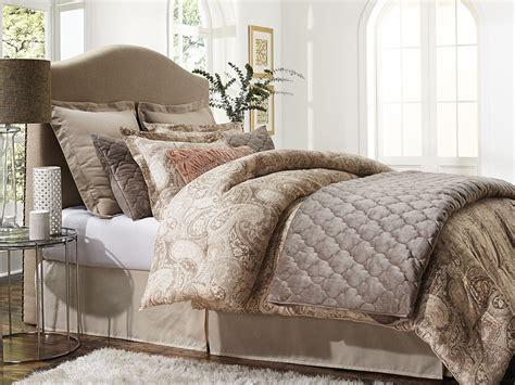 tan coverlet jaclyn smith 5 piece comforter set paisley tan home
